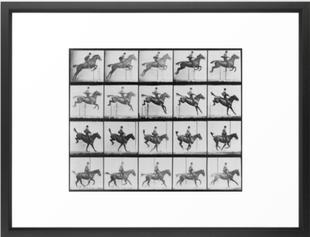 Man Riding a Horse Framed Art Print