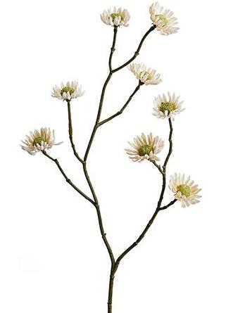 Mini Daisy Artificial Flowers in Beige
