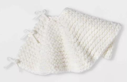 Hand Knit Tree Skirt Ivory