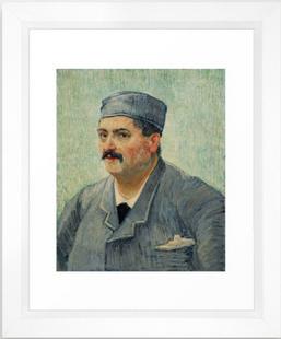 Portrait of a Restaurant Owner Framed Art Print