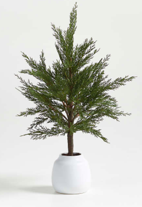 Faux Potted Cypress Tree 24""