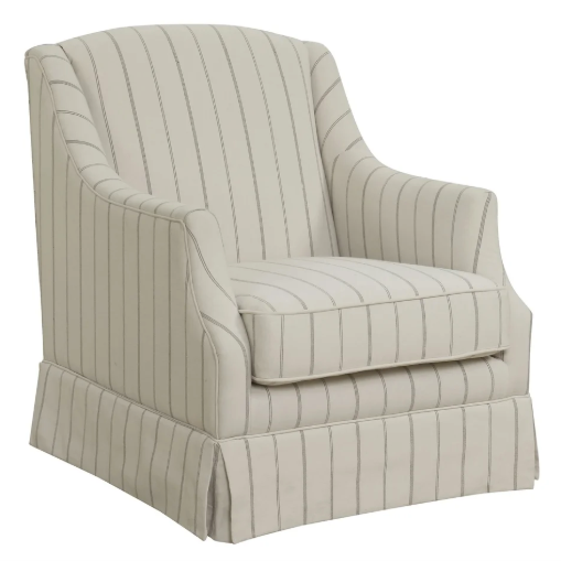Striped Swivel Chair