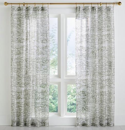 Muriel Printed Sheer Curtain Panel