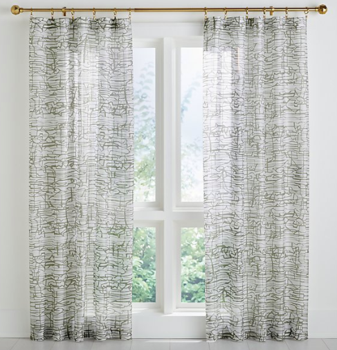 Muriel Printed Sheer Curtain Panel