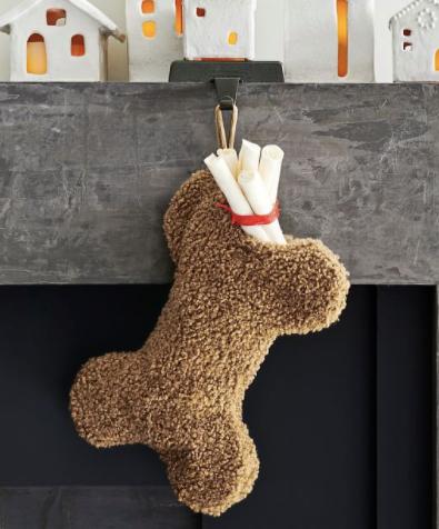 Cozy Teddy Faux Fur Dog Stocking