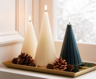 Fluted Tree Candles