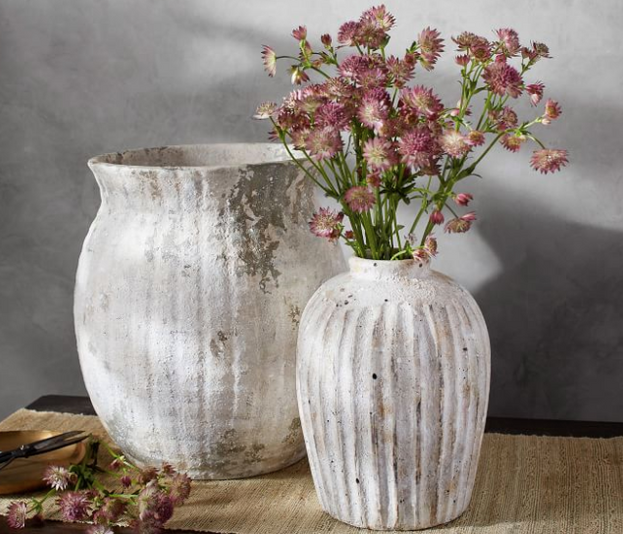 Handcrafted Weathered Terra Cotta Vases