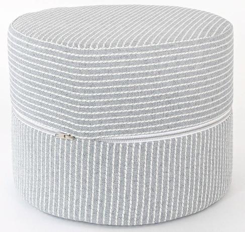 Striped Round Stool