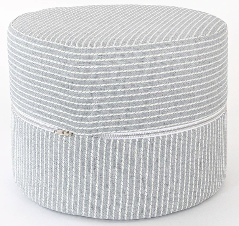 Striped Round Stool