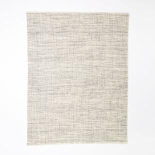 Heathered Basketweave Wool Rug