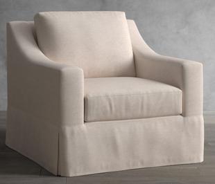 York Slope Arm Slipcovered Armchair
