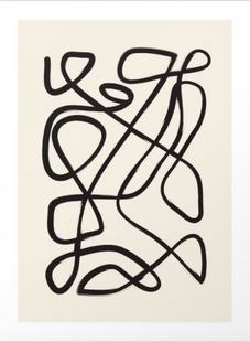 Abstract Line Work Art Print