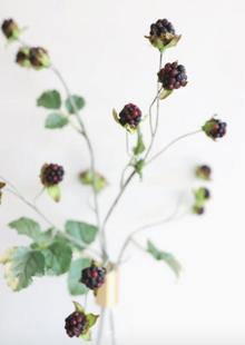 """Artificial Wild Raspberry Berries in Plum 27"""""""
