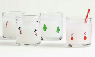 Christmas Trees Double Old-Fashioned Glass
