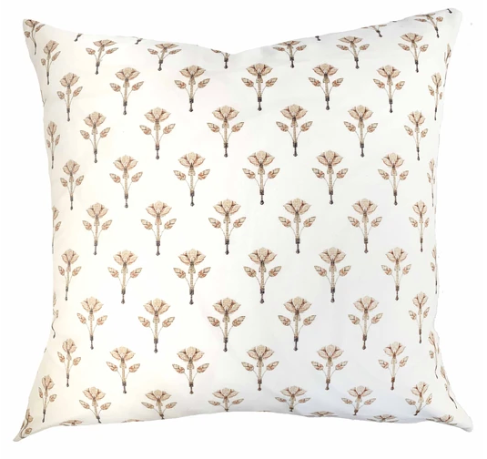 Floral Block Print Pillow
