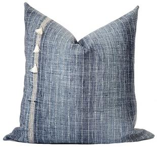Indigo Tassel Pillow