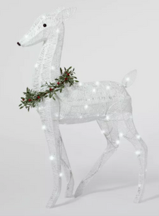 LED Christmas Glitter Novelty Silhouette Lights Pure White