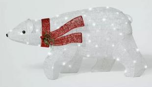 LED Polar Bear Glitter Novelty Silhouette Lights