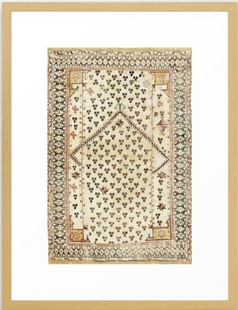 Selendi West Anatolia 16th Century Rug Print Framed Art Print