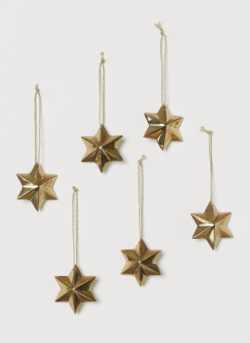 Gold Star Ornament Pack