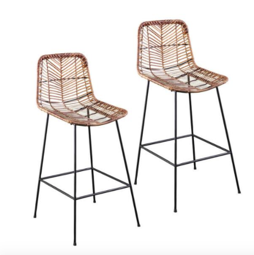 All Weather Wicker Naveen Outdoor Counter Stools Set Of 2