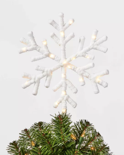 Light Chenille Wrapped Snowflake White