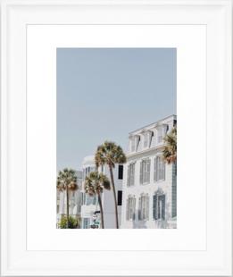 White Palms Framed Art Print