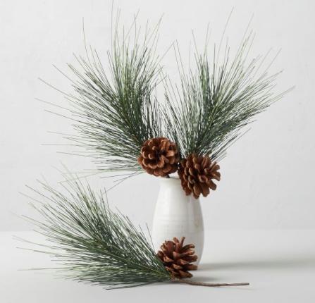 Faux Evergreen & Pinecone Vase Filler