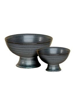 Indigo Footed Bowl
