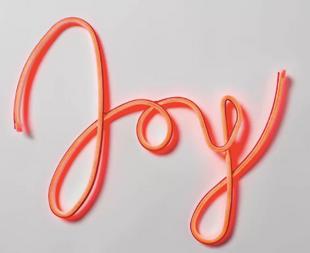Christmas LED Faux Neon Joy Novelty Silhouette Lights