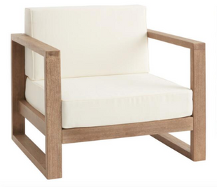 Light Brown Eucalyptus Segovia Outdoor Occasional Chair