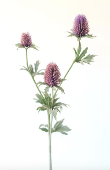 Lavender Artificial Thistle Wildflowers