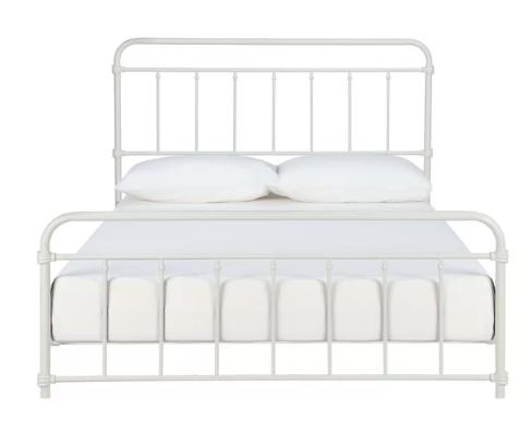 White Platform Bed