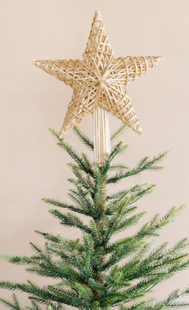 Woven Straw Star Tree Topper
