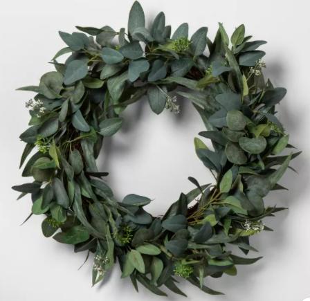 Faux Seeded Eucalyptus Wreath