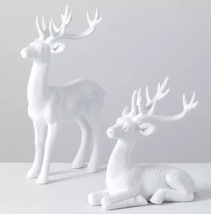 Set of 2 Deer Figurines
