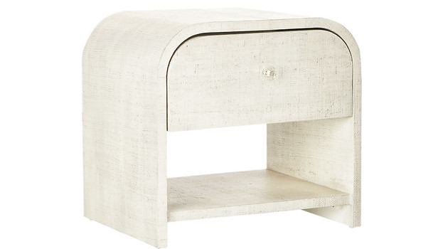 Lacquered Linen Nightstand