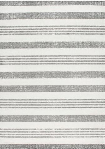 8x11 Grey Striped Rug