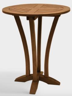 Round Wood Oreton Outdoor Bar Table