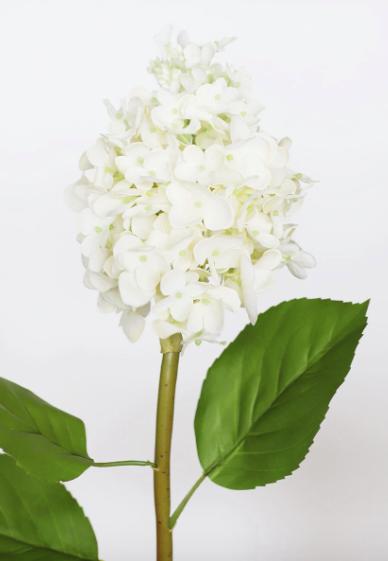 Cream Snow Queen Hydrangea Real Touch Flower