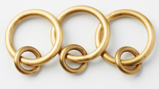 Brass Curtain Round Rings