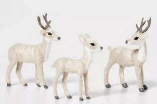 3ct Deer Set Decorative Figurine Gray