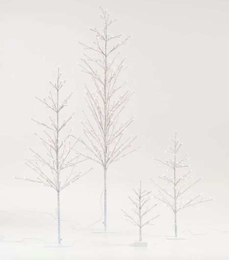 LED Birch Trees