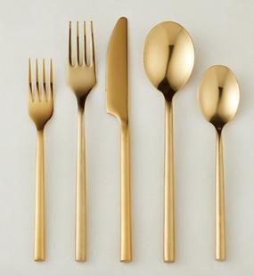 Brushed Gold Flatware Set