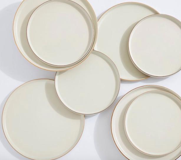 Mason Modern Gold Rim Stoneware 8-Piece Dinnerware Set