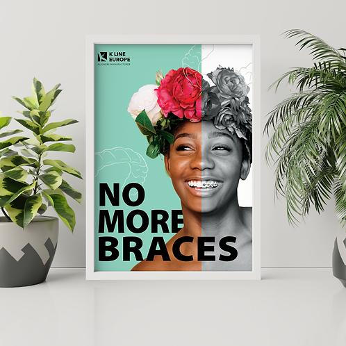 Plakat - keine Zahnspange mehr