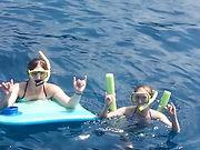 Snorkel Cruise in Hawaii with Project Hawai'i, Inc. teen mentor summer camp
