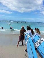 Teen Mentors at their surf lessons in Waikiki