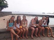 Teen Mentors in Kona Hawaii enjoying shave ice