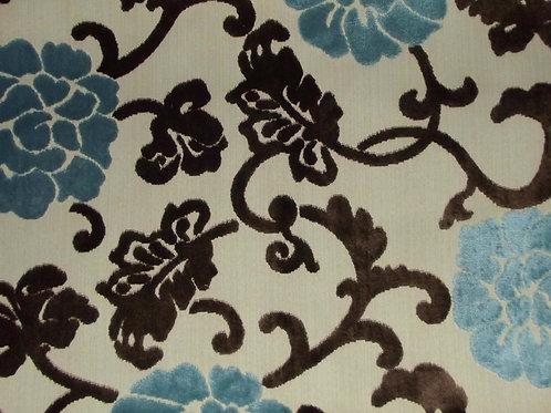 Eleganza Floral 2 Colour Blue/Chocolate / SR17251